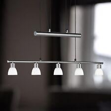 WOFI lámpara colgante LED BRAM 5 LLAMAS Níquel Cristal Blanco Ajustable 20W 1300