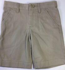 Boys Khaki Chino Shorts School Uniform Pants Flat Front Bermuda Cat Jack sz 4