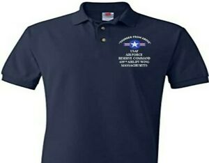 439TH AIRLIFT WING RESERVE COMMAND MA EMBROIDERED POLO SHIRT/SWEAT/JACKET.