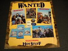 Village People original vintage music biz promo advert Wanted - Hot Stuff