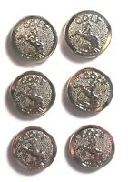 """1911 GRIPS,SALE $22.73, 6 SILVER """"RAMPANT HORSE """" MEDALLIONS,1/2 IN. SMOOTH BACK"""