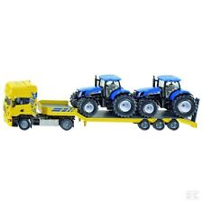Siku Low Loader With New Holland Tractors 1:50 Scale Model Toy Gift