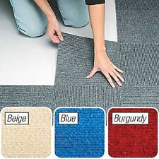 "Peel and Stick Blue Berber Carpet Tiles 12""x12"" Set of 10"