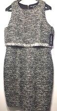 KARL LAGERFELD Paris Black White Tweed Dress Size 16 (MSRP $158)
