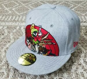 NEW ! Rare Looney Tunes New Era Cap Taz Bugs Marvin The Martian Fitted 5950 Hat