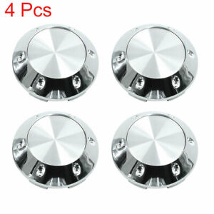 Silver Tone 68mm Car Wheel Tyre Center Hub Caps Cover with Badge Sticker 4pcs