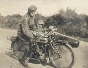 PHOTO OF VINTAGE  MOTORCYCLE WITH SIDECAR