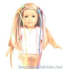 6 Neon Hair Extensions 18 in Doll Clothes Accessory Fits American Girl
