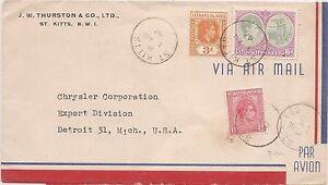 St Kitts 1942 A/M Censor to Chrysler Corp USA (bam)