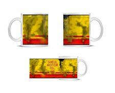 Retro Vintage Golden Shell Motor Oil Can Mug Car Mechanic , Coffee Mug