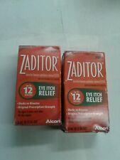 2 Systane Zaditor Eye Itch Relief Drops 5mL (0.17 oz)