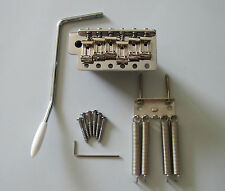 Wilkinson 6 Hole Vintage Strat Tremolo Trem Bridge w/ Steel Block WVC-SB Chrome