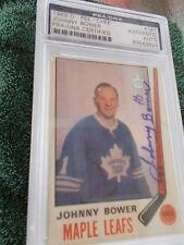 JOHNNY BOWER HAND SIGNED 1969 O-PEE-CHEE CARD PSA ENCAPSULATED