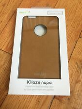 New OEM Moshi iGlaze Napa Vegan Tan Leather Case For iPhone 6 Plus/6s Plus