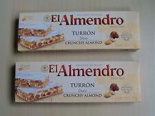Turron duro - crunchy almond El Almendro 150 g (2 packs of 75 g each)
