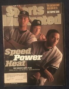 5.18.1998 DEREK JETER Sports Illustrated NY YANKEES - MARIANO RIVERA - HOFers