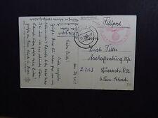 PC Postkarte Austria Feldpost Villach Briefstempel 1943 Obervellach Station