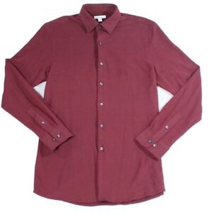 Bar III Mens Dress Shirt Red Size Large L 16-16 1/2 Button Up Slim Fit $79 #012