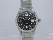 Swiss Ball Fireman Racer black dial auto date SS bracelet watch NM2088C-S2J-BKWH