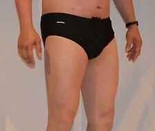 Mens New Swimwear Aquatica Performance Black Brief Size 38 New in Box