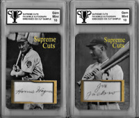 Honus Wagner & Shoeless Joe Jackson Supreme Cut Facsimile Autograph Sample Cards