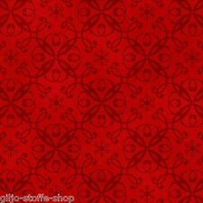 Holiday Magic Damask Rot Weihnachtsstoffe Patchworkstoffe Stoffe Patchwork Quilt