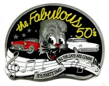 Americana Belt Buckle Music Themed The Fabulous 50's Authentic Dragon Designs