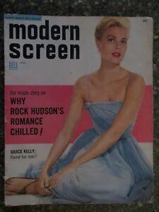 Modern Screen Magazine December 1954 Grace Kelly VINTAGE ADS Liz Taylor Pin-Up