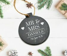 Personalised Mr And Mrs Christmas Tree Bauble Newly Weds 1st First Decoration