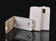 ^ móvil flexi plegable bolsa funda estuche abatible protección case lg Joy h220 t300 blanco