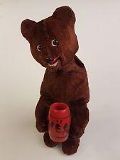 Alter Bär Honig Teddybär Schlüßelaufzug Teddy Bären um 1950