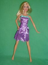 Blonde Beach Barbie Doll with Clone Doll Dress ~ Straight Legs & One Bent Arm
