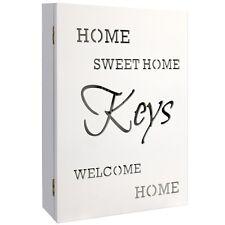 """Schlüsselkasten Schlüsselschrank Schlüsselbox Holz """"home Sweet Home"""" 22x7x32cm"""
