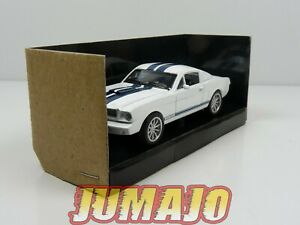 SHE1 voiture 1/43 FORD LEGEND SERIES : Shelby Mustang GT350 1965 White/Blue
