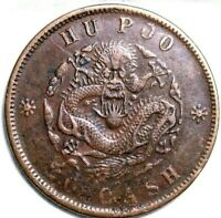 China 1903 Quing Dynasty 20 Cash China  Hu-Poo Copper 20 Cash Coin   52-593
