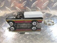 2018 Hot Wheels 79' Brown Ford Pickup Truck Antique Custom Key Chain Ring!