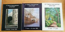LOT DE 3 CATALOGUES DES 3 PREMIERS SALONS INTERNATIONAUX D'ART NAIF 1984/86
