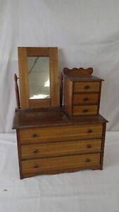 ANTIQUE EASTLAKE VICTORIAN CHILD'S DRESSER CHEST MIRROR SALESMAN SAMPLE DOLL #2