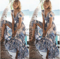 Vintage Women Boho Long Maxi Evening Party Dress Summer Beach Sundress Plus Size