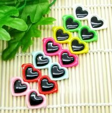 8PC Heart Sunglasses Resin 3D Flatback Embellishments Gift Bows Cupcake Toppers