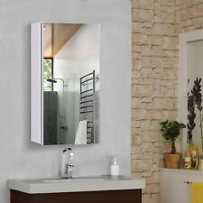 HOMCOM Wall Mounted Bathroom Mirror Glass Storage Cabinet Cupboard