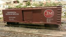 Train Miniature HO 3-M 40' DS Wood Boxcar, Upgraded,  Ex