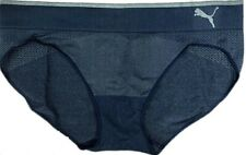 Lot 4 PUMA Women's Sport Stretch Bikini Logo Underwear Size:LARGE-BLUE ONLY NWOT