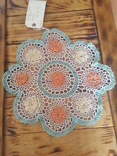 Vintage Crochet Doilie   Flowers  large