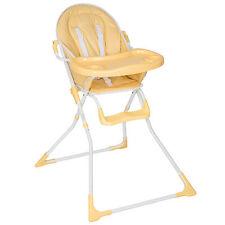 Chaise haute pour Bébé ou Enfant Grand Confort Beige pliable