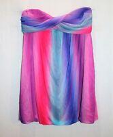 Free Fusion Brand Purple Rainbow Mesh Strapless Dress Size M BNWT #RK07