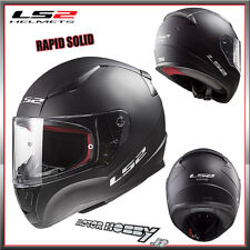 CASCO INTEGRALE TOURING  LS2 FF353 RAPID SOLID TAGLIA XL NERO OPACO