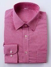 EX m&s Corte Normal 100% sarga de algodón camisa Rojo O AZUL MARINO