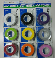 2 Packs Yonex AC 102EX, Pak of 3 Super Grap Badminton Tennis Squash Over Grips