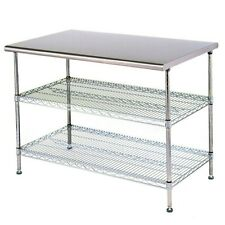 Eagle Group T2460Ebw AdjusTable Work Table 24 x 60 x 34 Stainless Steel Work Top